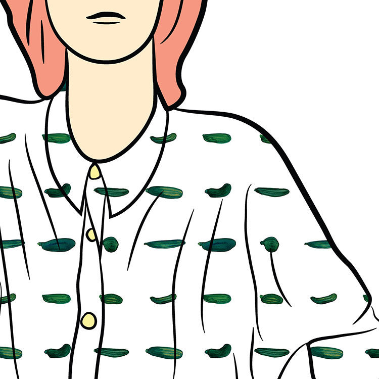courgette illustrated shirt