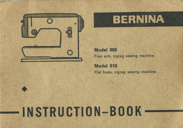 Bernina vintage instructions