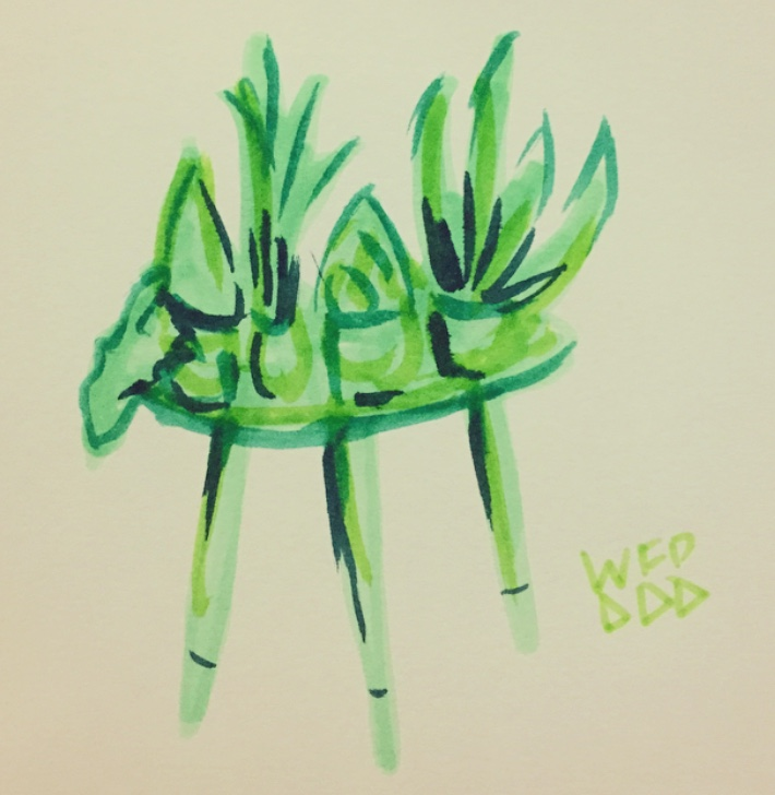 plant table tombow drawing