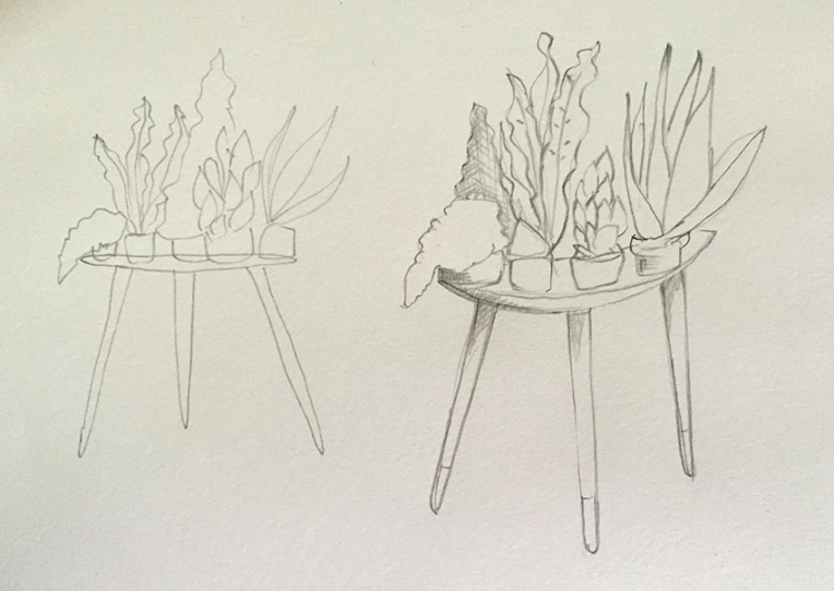 plant table sketch