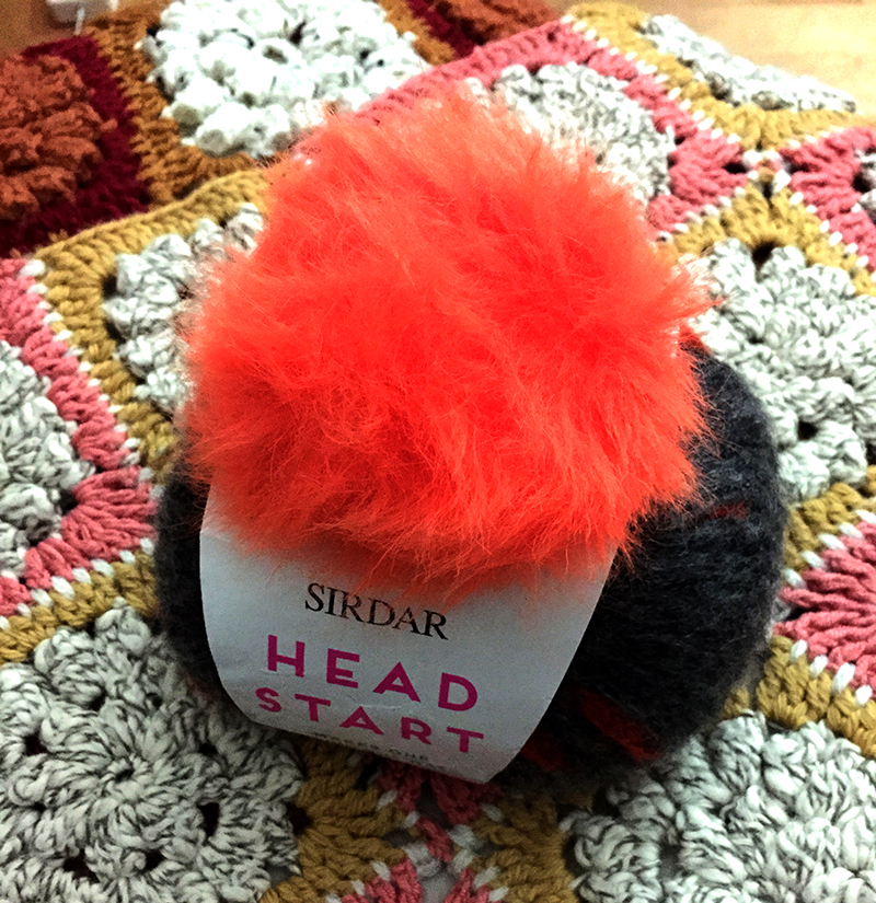 Head start beanie with pompom attached