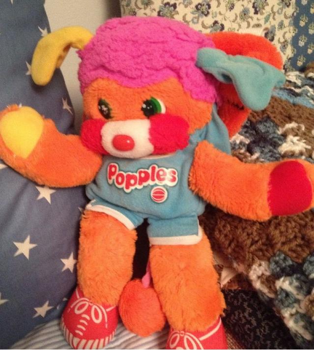 dunker popple doll, orange tail